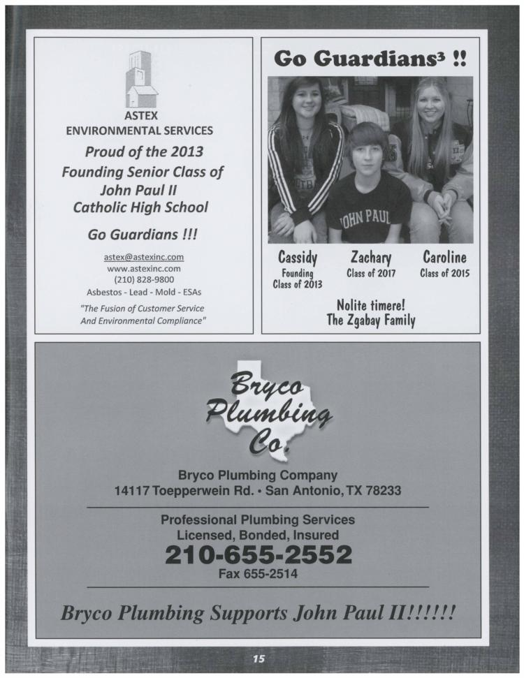 Sample program ads st john paul ii catholic high school for High school football program template